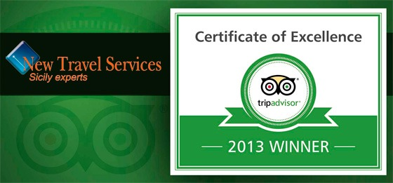 Trip Advisor Excellence Award  2013 for New Travel Services