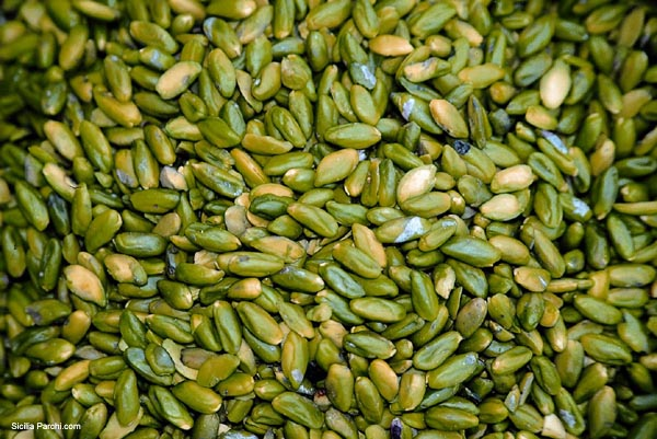 They call it the green gold of Sicily. It's the green pistachio nut from Bronte.